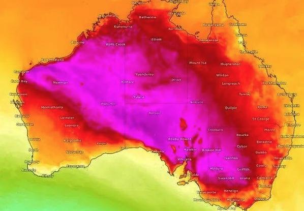 珀斯热浪东移 澳洲下周恐破50度高温纪录