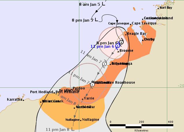 热带气旋 Blake在西澳沿海地区形成,将带来强烈的大风和暴雨