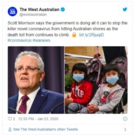 【澳洲武汉肺炎疫情】澳洲总理就确诊首例新型肺炎发表声明