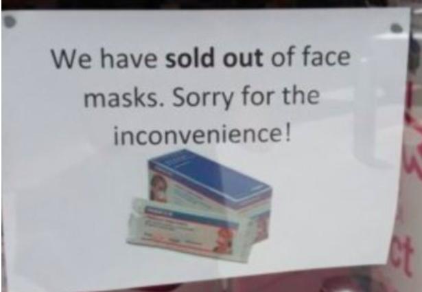 口罩卖光了!南澳正对3人进行肺炎检测