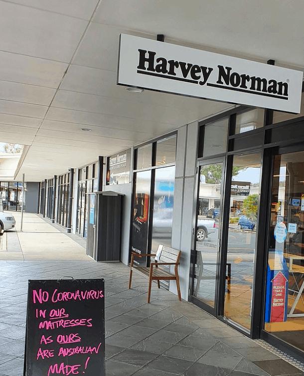 Harvey Norman被骂死!宣传床垫是「澳洲制造无冠状病毒」