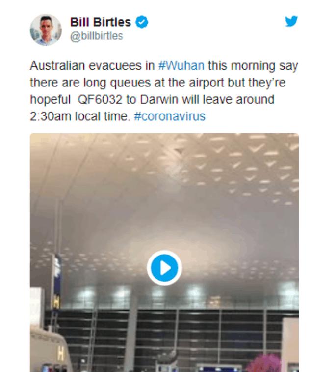 最新 澳洲第二架撤侨包机已降落达尔文 机上有近百名儿童