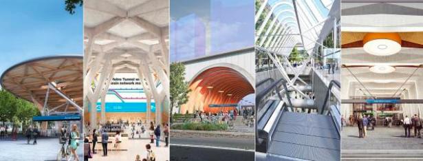 """墨尔本在建5个""""地下城"""",隧道新车站里吃喝玩乐齐全"""