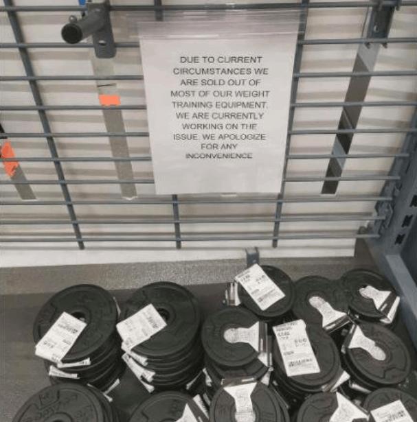 澳洲运动器材脱销,隔离也不耽误人们练肌肉
