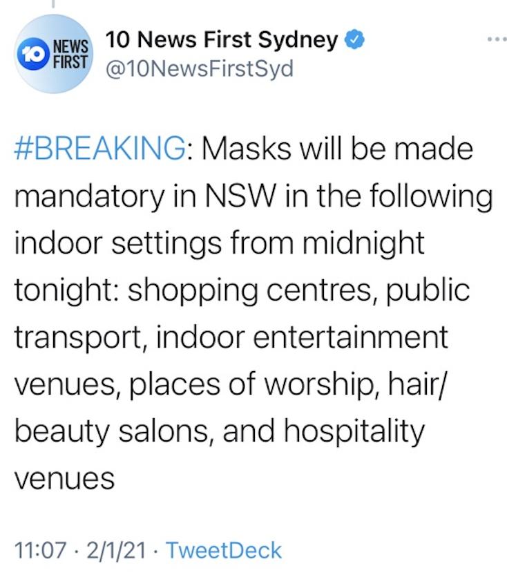 【悉尼疫情】好消息!新州连续三天0社区传播!预定下周全面解禁!