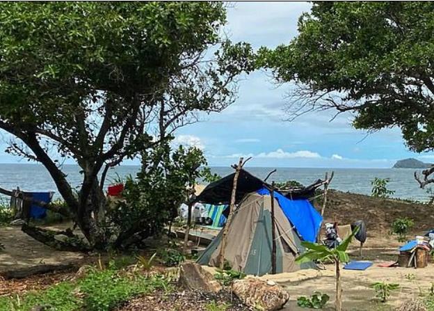 昆州女子定居海滩岸上露营种菜 当地政府无法可管!