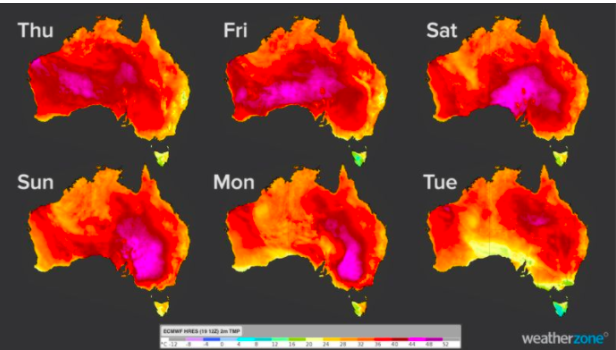 挺住!澳洲多地迎战40多度高温!周日周一最炎热