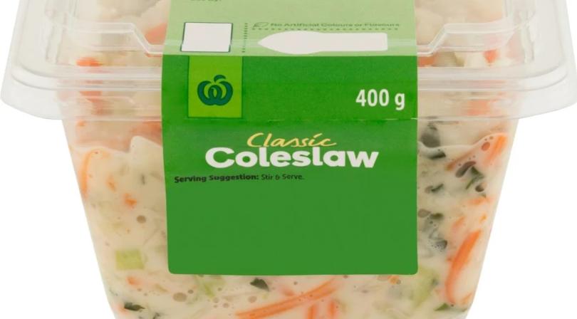 沙门氏菌污染,Woolworths紧急召回卷心菜色拉coleslaw
