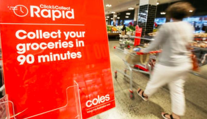 """Coles在全国范围内推出90分钟内""""点击-取货""""服务"""