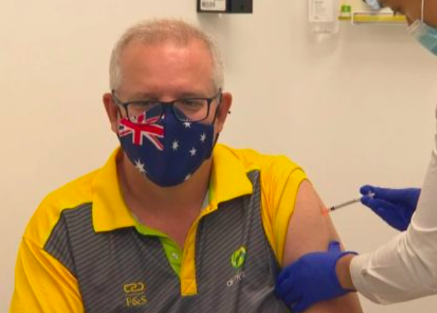 澳洲新冠疫苗接种计划今日启动!莫里森总理率先开打