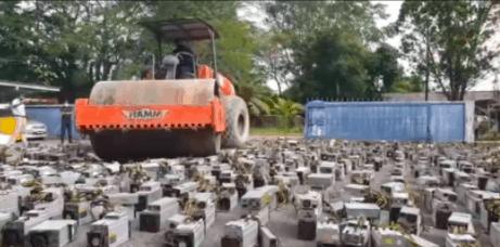 比特币危险!全球前十大矿场 - 马来西亚,警方突击销毁1069台矿机